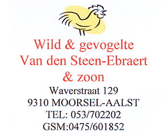 Wild & gevogelte Van den Steen-Ebraert